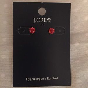 NWT red jcrew stud earrings
